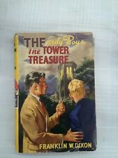 The Hardy Boys, The Tower Treasure, circa 1956, w/ DJ,  collectable, good cond.