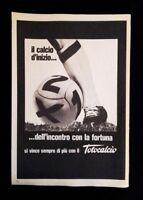 Pubblicita'Advertising Originale Vintage TOTOCALCIO schedina scommesse 1975 (A2)