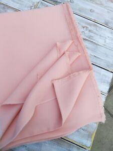 Peach 100% Wool Crepe Fabric - By John Lewis - 300cm