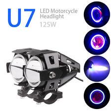2X 125W 3000LM CREE U7 LED Motorcycle Moto Headlight Driving Spot Fog Lamp