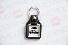 Peugeot 205 Keyring - Leatherette & Chrome Retro Classic Car Auto Keytag