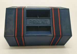 """ROLYKIT BLUE Roll Up Storage Craft Box Case Fishing Sewing Jewelry 42"""" long"""