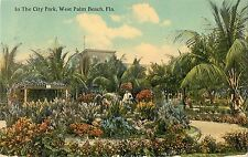 1913 In The City Park, West Palm Beach, Florida Postcard