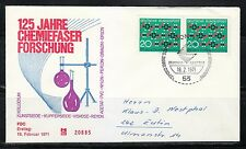 Germany 1971 FDC cover Mi 664 Sc 1054 Synthetic textile fiber research. Used