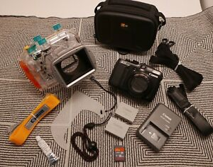 Canon PowerShot G11 Camera & Original Canon WP-DC34 Underwater Housing MINT