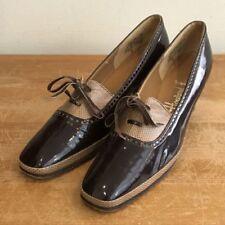 Chaussures à talons vintage marron pour femme