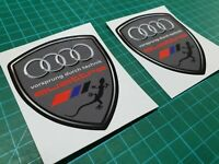 Audi TT TTS RS A1 A3 A4 A6 QA7 S3 S4 80mm Wing / Panel Decals Stickers styling