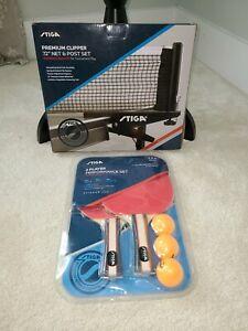 "Stiga Ping Pong Premium Clipper Net 72"" Paddles And Ball Performance Set"