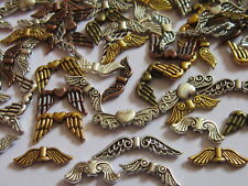 Mixed Tibetan Silver bronze golden Angel Fairy Wings Spacer Beads Charms 50Gr