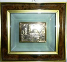 Sterling .925 Silver Handcrafted Saad Jerusalem 3-D Picture Crystal Frame Israel