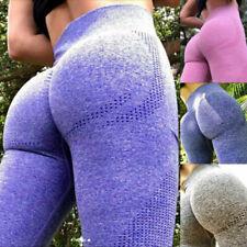 Womens Seamless Yoga Pants High Waist Leggings Butt Lift Compression Gym Fitness