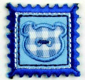 Applikation zum Aufbügeln Bügelbild 3-967 Briefmarke