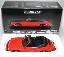 Porsche 911 Carrera Cabriolet convertible 1983 rot red Minichamps 100063030 1:18
