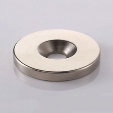 40x5 Mm Hole 6mm Round Disc Neodymium Magnets Countersunk Ring Rare Earth N50
