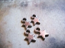 100 BULK Star Charms Antiqued Silver Miniature Charms Celestial Charms