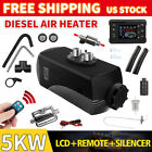 5KW Diesel Heaters 12V w/ LCD Switch Remote Control for RV Car Boat Truck Black