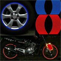 Motorcycle Rim Tape Reflective 16 PCS Wheel Stickers Decals Vinyl FREE SHIPPING