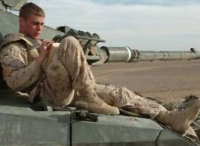 Super Hot Handsome Male Military Hunk Soldier in Gear On Tank 4X6 PHOTO C2128