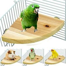 Borangs Wood Perch Bird Platform Parrot Stand Playground Cage Accessories Small