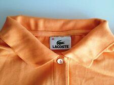 Lacoste Polo-Shirt Damen Kurzarm Orange Unifarben Baumwolle Gr. 40 / M