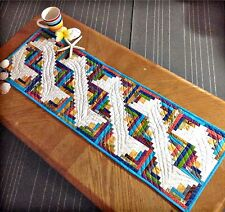 """Cut Loose Press Along the Nile Table Runner for the Creative Grids 4"""" Log Cabin"""