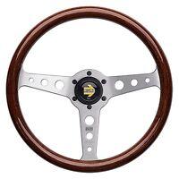 MOMO Indy Steering Wheel - Solid Mahogany Wood - 350mm
