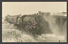 1910s RPPC Head On Train Wreck ~ ( ROYCROFT PHOTO SHOP Pub )