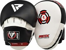 RDX Focus Boxing Pads Hook & Jab Mitts MMA Strike Punching Bag Kick Curved Mitts