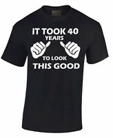It Took 40 Years To Look Like This T-SHIRT 40th Birthday Gift Made In 1975 Tee