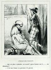 Gavarni: Masques et Visages.72.L'école des Pierrots.4.Pulcinella.Caricatura.1857