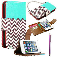 Wallet Flip PU Leather Pouch Hard Stand Cover Case For iPod Touch 4 4th 4G Gen