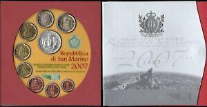 San Marino - Folder Serie completa monete divisionali fior di conio, 2007