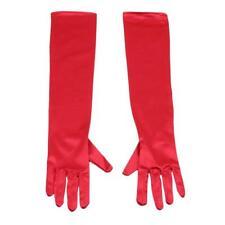Womens Satin Long Gloves Opera Wedding Bridal Evening Party Costume Gloves JI