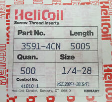 Helicoil 3591-4CN500S Strip-Feed Inserts; 1/4-28; C of C Included!!