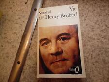 1973.Vie de Henry Brulard.Stendhal.Béatrice Didier(envoi)