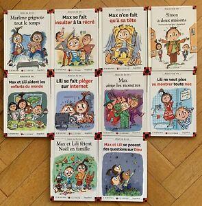 Superbe Lot N°5 de 10 Livres collection Max et Lili Ainsi va la vie