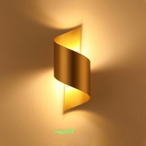 Modern Golden Simple Bedside Wall Lamp Sconce Hotel Corridor Wall Fixture Lights