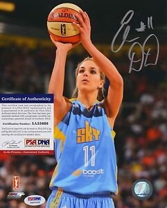 Elena Delle Donne WNBA Chicago Sky Signed AUTOGRAPH 8 x 10 Photo PSA DNA ITP