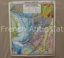 Carte scolaire France Nord Est 7 Economique physique industrie Hatier