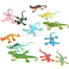 12pcs Small Plastic Lizard Gecko Reptiles Figures Kids Party Bag Fillers Toy