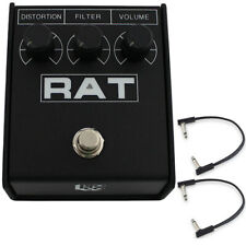 Pro Co Rat 2 Distortion, Fuzz, Overdrive Guitar Effects Pedal w/ (2) Flat Patch