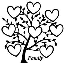 Árbol de corazón familia 8 nombres Calcomanía Vinilo Sticker Ikea Ribba Caja Regalo de elaboración de marco