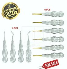 Dental Extraction Elevators Power Twist Periotome Set Of 10 Oral Surgery Tools
