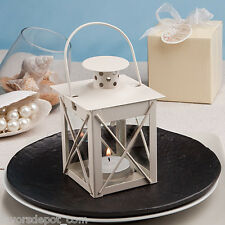 30 Love Lights the Way Metal Luminous Lanterns Ivory Wedding Favor Shower