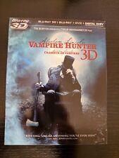 Abraham Lincoln: Vampire Hunter 3D (Blu-ray 3D,Blu-ray, DVD, Slipcover,Canadian)