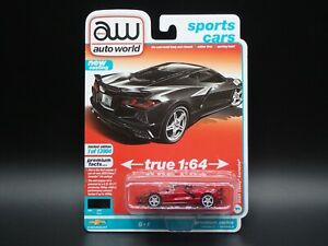 2021 AUTO WORLD 2020 CHEVY CHEVROLET CORVETTE C8 2A ULTRA RED CHASE PIECE