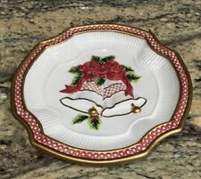 Fitz And Floyd Holiday Bells Christmas CanapÉ Plate Dish In Box Looks Unused