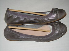 "SPERRY Top Sider ""Elise"" Pewter Metallic Flats Women's Size 6.5 M"