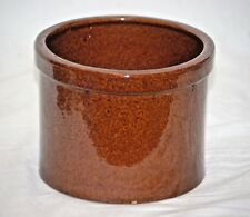 Old Vintage Brown Stoneware Cheese Crock Country Farm Kitchen Utensil Tool Decor