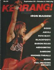 KERRANG! #25 SEP 1982 IRON MAIDEN The Rods ANVIL Blackfoot SAMSON Twisted Sister